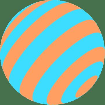 pattern-ball-orange-blue-stripes